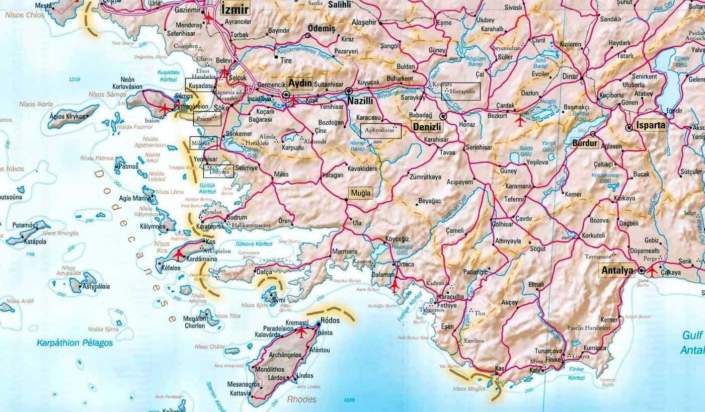 Carte Turquie Kusadasi.Turquie Kusadasi