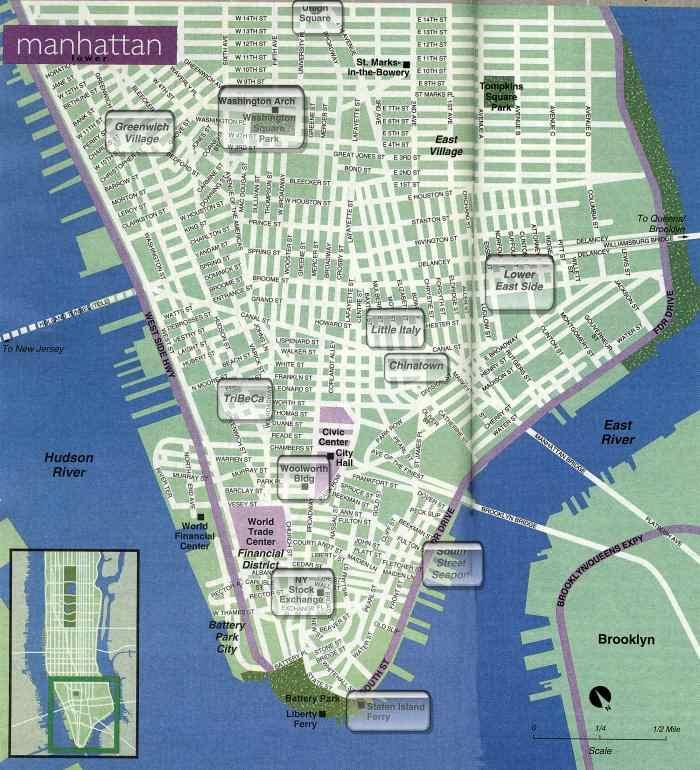 Carte Quartier New York City.Plan Map Et Cartes De New York City